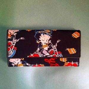 Betty Boop on motorcycle wallet